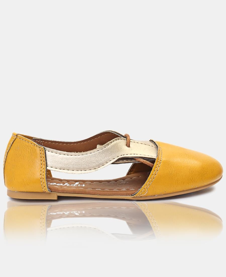 Girls Boyfriend Shoe - Mustard