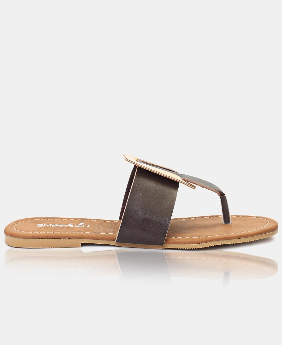 Slip On Sandals - Choc