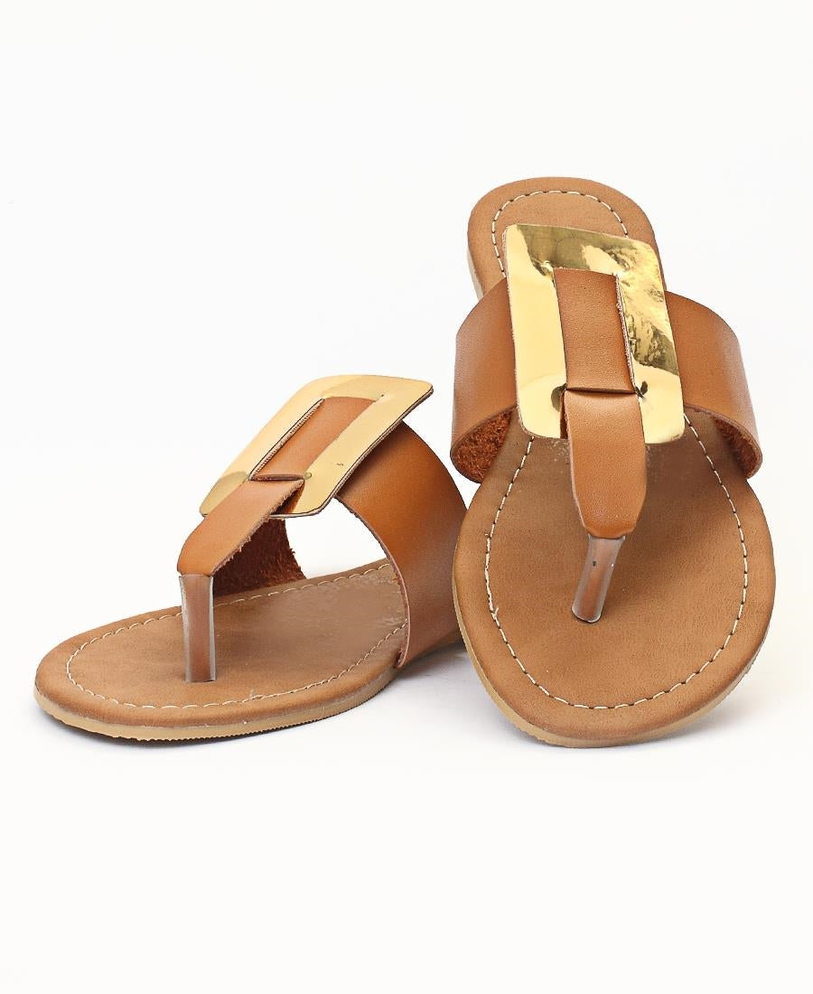 Slip On Sandals - Tan