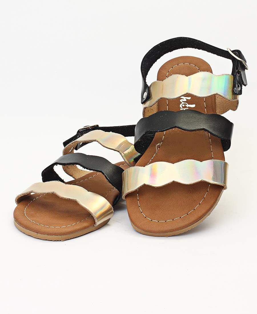 Girls Sandals - Black-Pewter