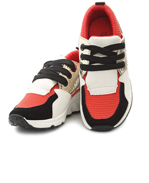 Girls Sneakers - Coral