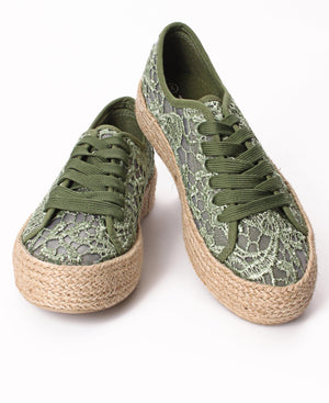Ladies' Casual Sneakers - Olive