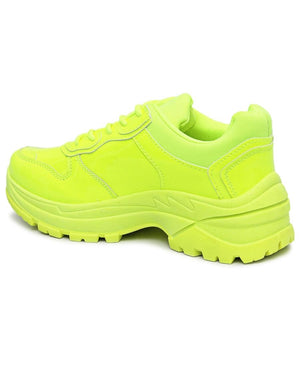 Ladies' Lumo Sneakers - Yellow