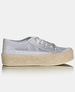 Ladies' Casual Sneakers - Silver
