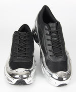 Ladies' Casual Metallic Sneakers - Black