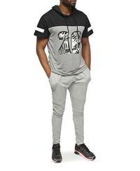 Hooded T-Shirt - Grey