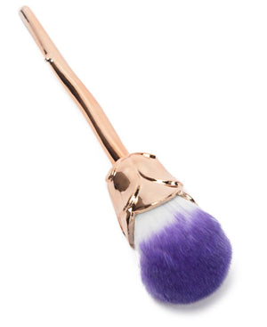 Rose Make Up Brush - Gold