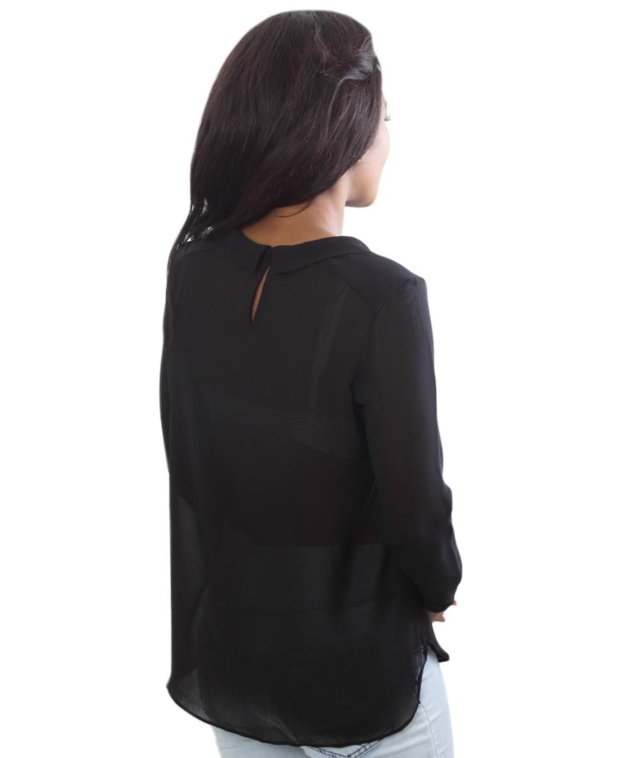 Chiffon Top - Black