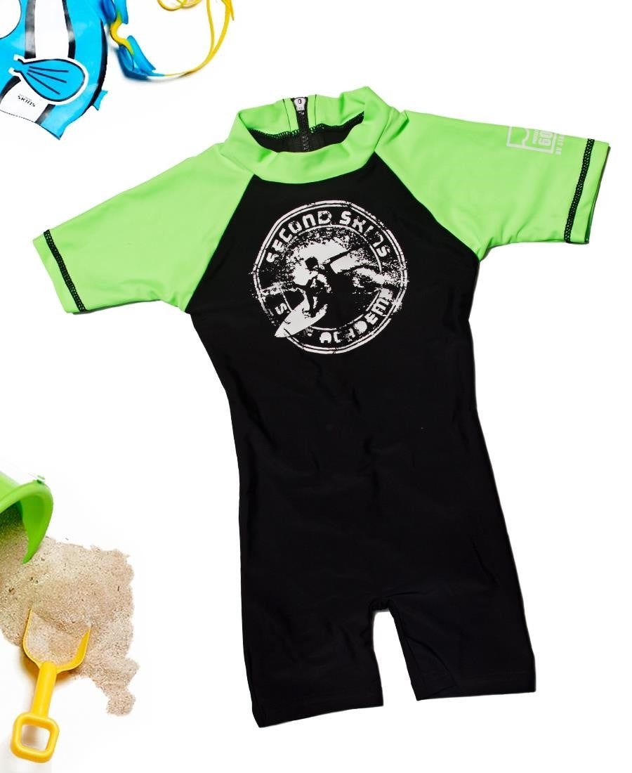Kids Sunsuit - Black
