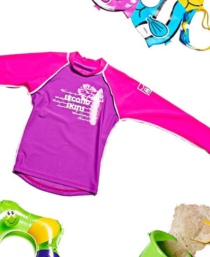 Kids Long Sleeve Sun Top  - Purple