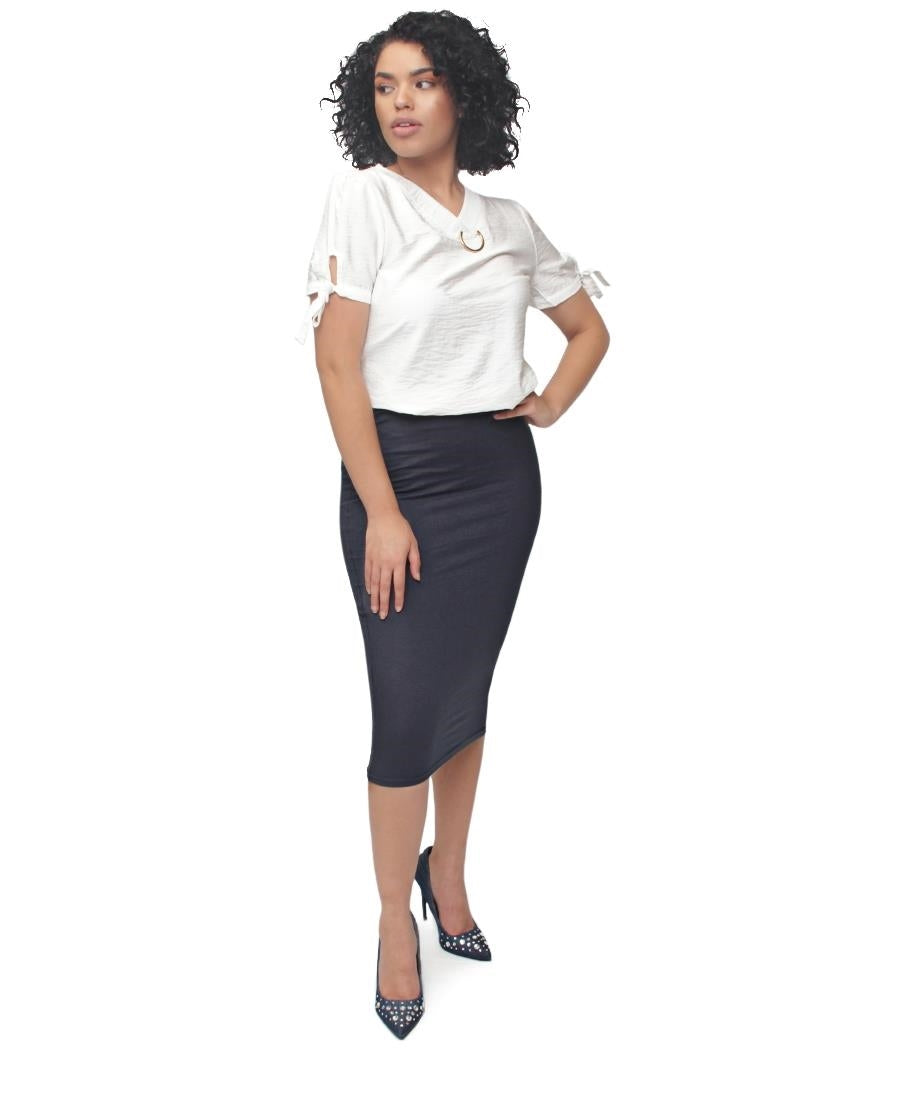 Pencil Skirt - Navy