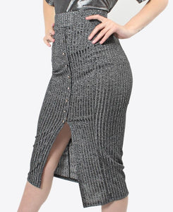 Ribbed skirt - Charcoal