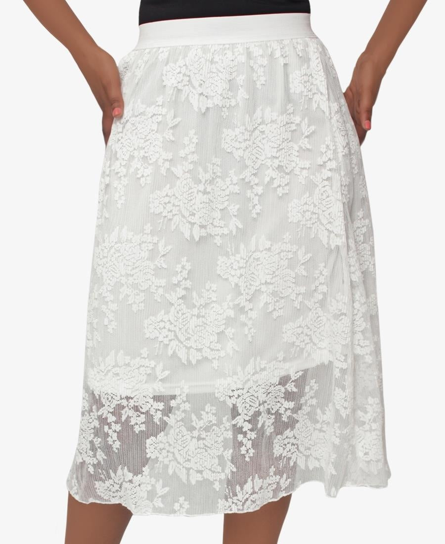 Lace Skirt - White
