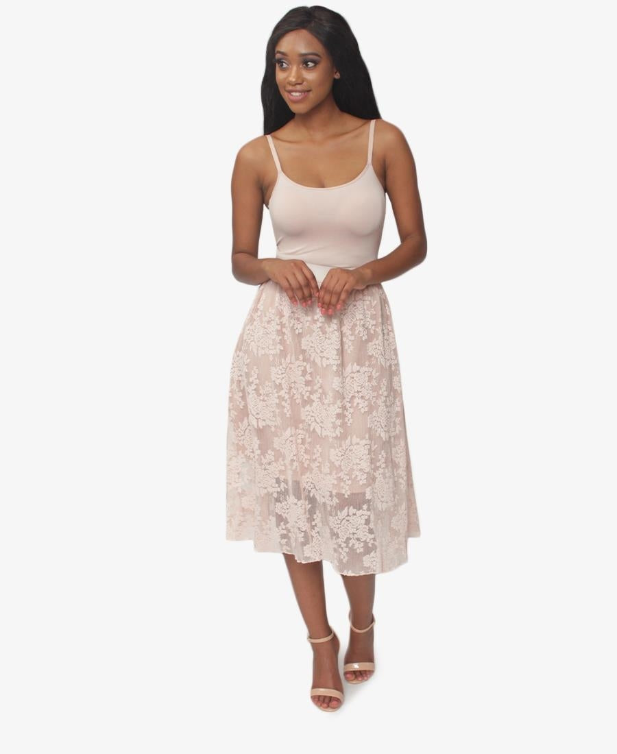 Lace Skirt - Nude