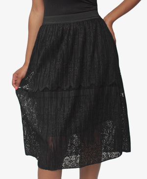 Lace Skirt - Black