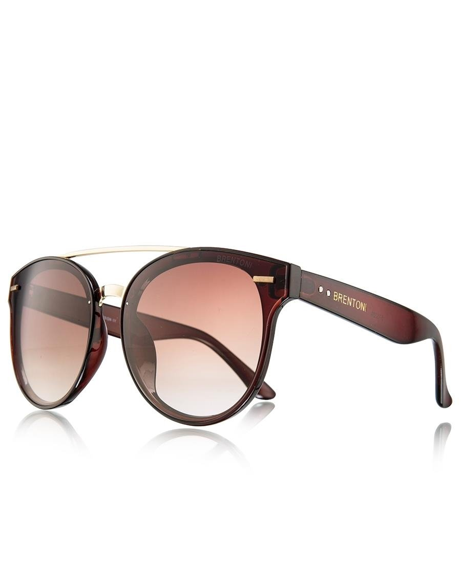 Ladies' Gold Bar Sunglasses - Brown