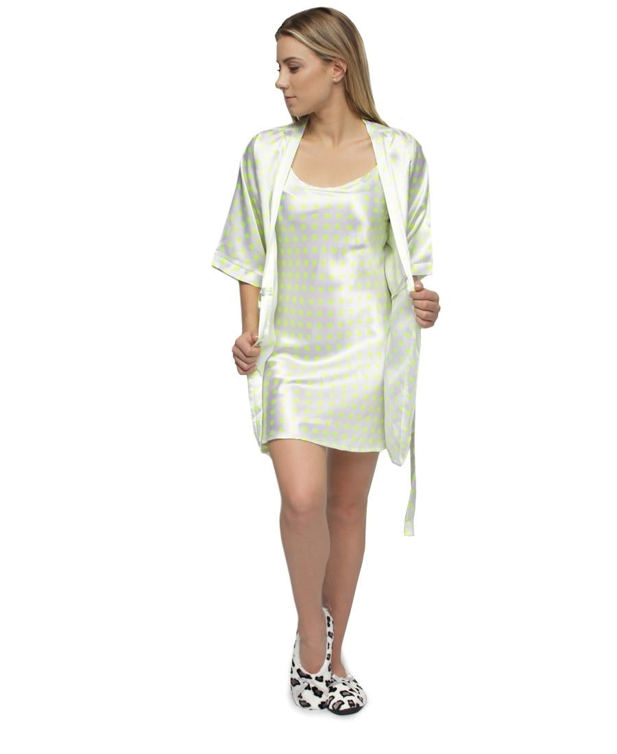 Chemise & Gown Set - Green