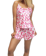 2 Piece Satin Pyjamas - Pink