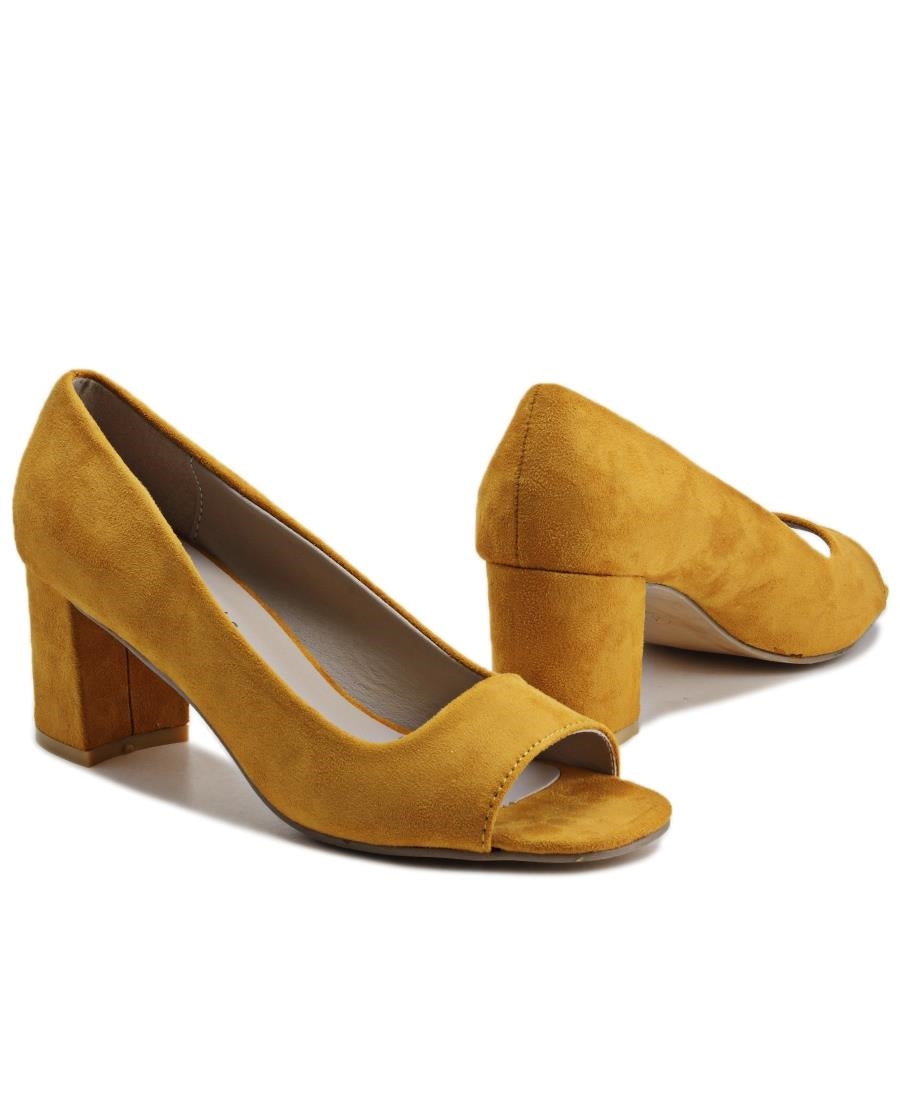 Block Heel - Yellow