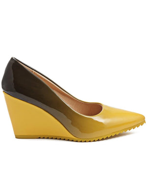 Ombre Wedge - Mustard