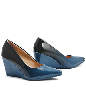 Ombre Wedge - Navy