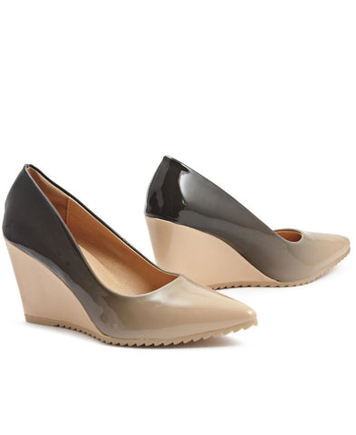 Ombre Wedge - Nude