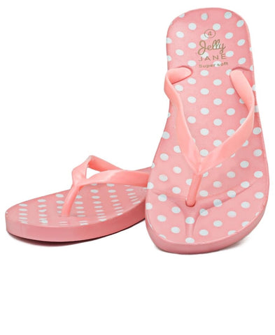 Polka Dot Jelly Sandals - Pink