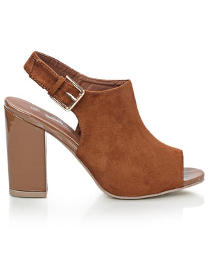 Block Heel - Tan