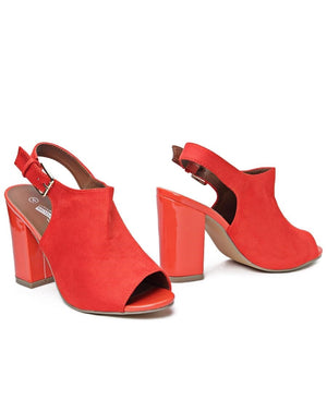 Block Heel - Orange