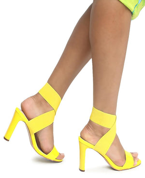 Block Heels - Yellow