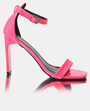 Ankle Strap Heels - Pink