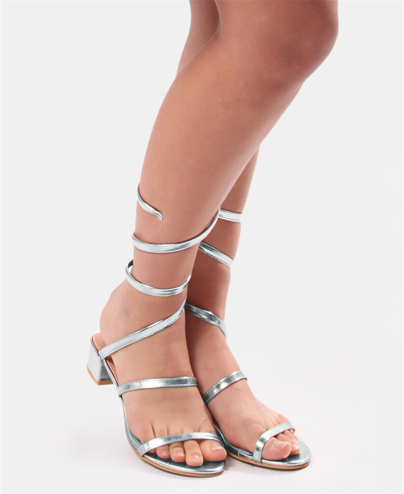 Strappy Sandals - Silver