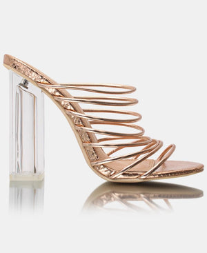 Block Heels - Rose Gold
