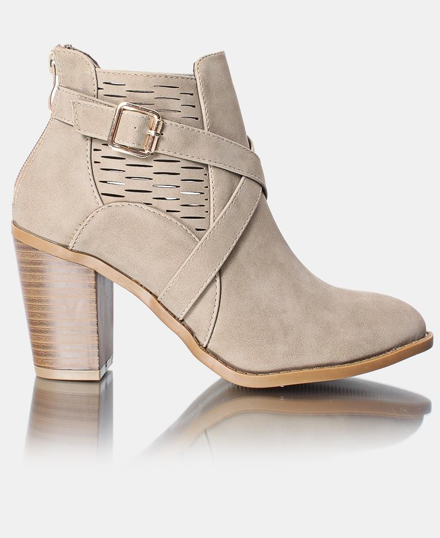 Ladies' Ankle Boot - Beige