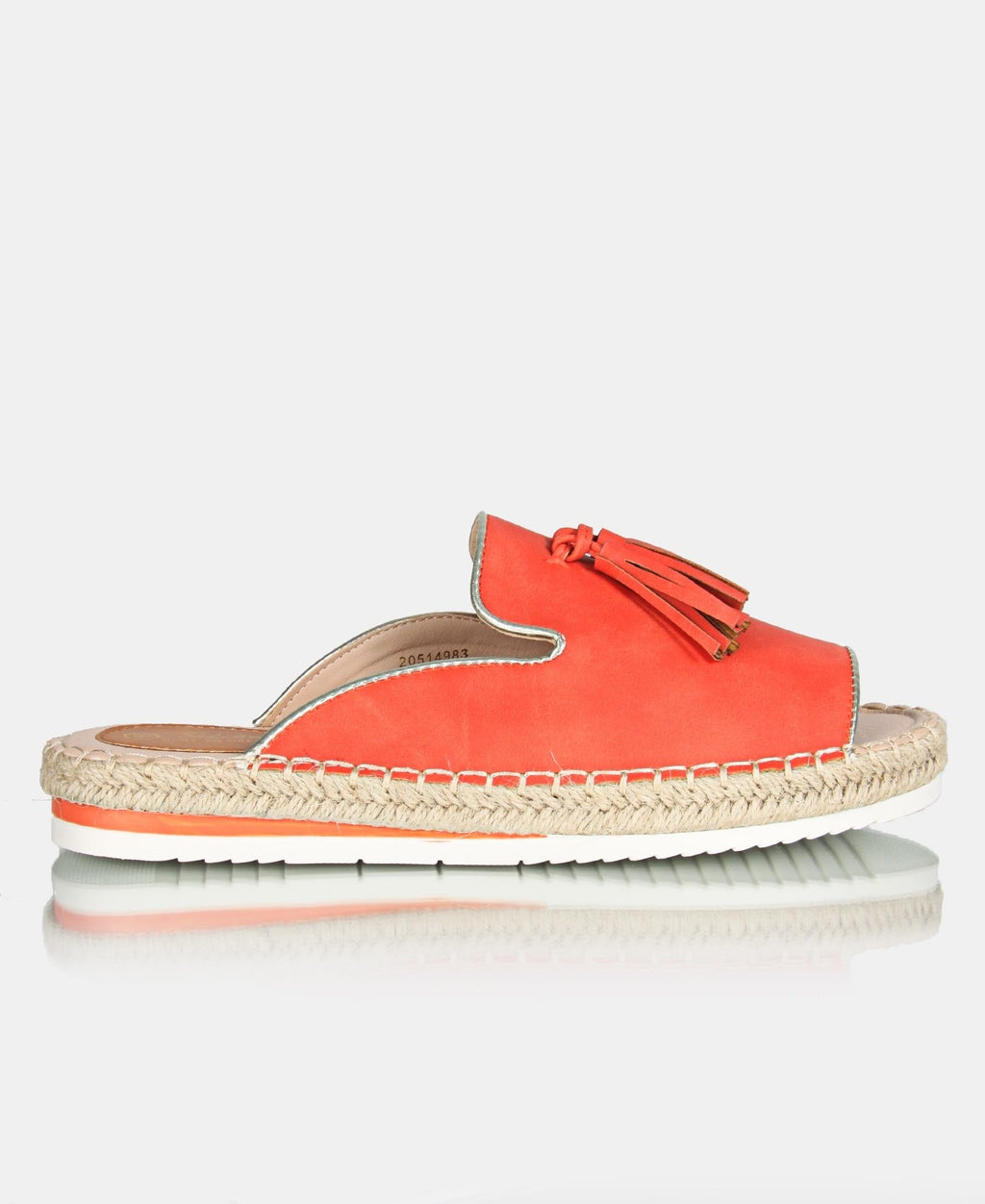 Ladies Orange Peep Toe Espadrille Sandals - Sandals