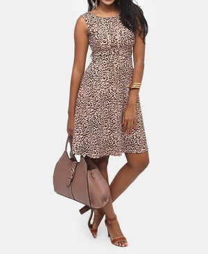 Kylie Bullet Knit Dress - Brown