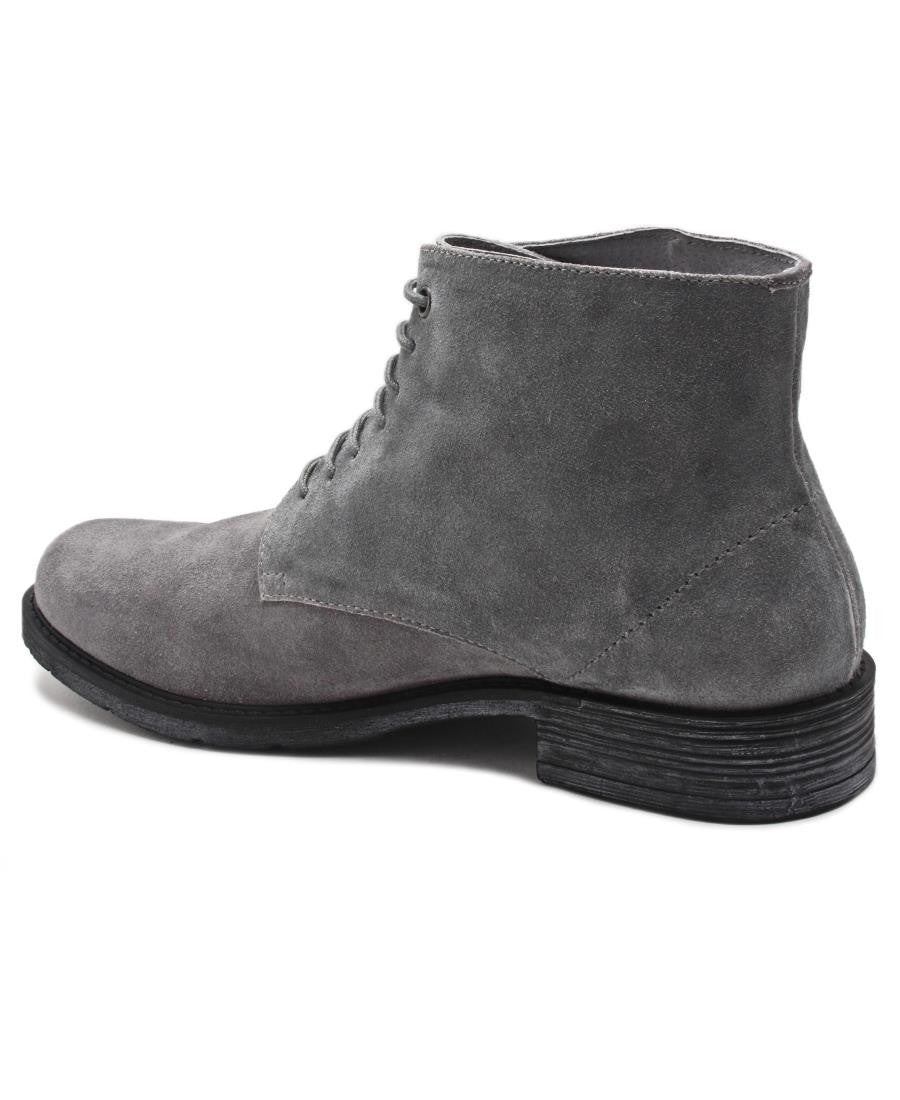 Genuine Leather Boots - Grey