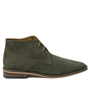Genuine Leather Boots - Green