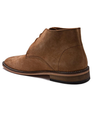 Genuine Leather Boots - Brown
