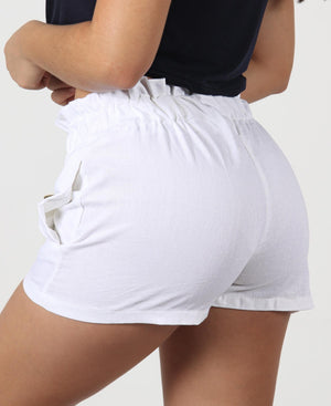 Paperbag Shorts - White
