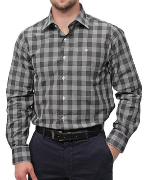 Check Shirt - Dark Grey