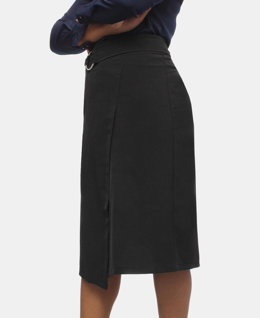 Wrap Over Skirt - Black