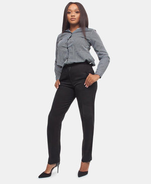 High Waist Formal Pants - Black