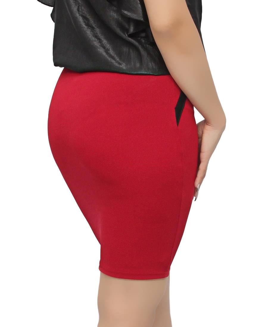 Ponti Mini Skirt - Red
