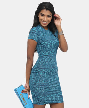 Bodycon Dress - Turquoise