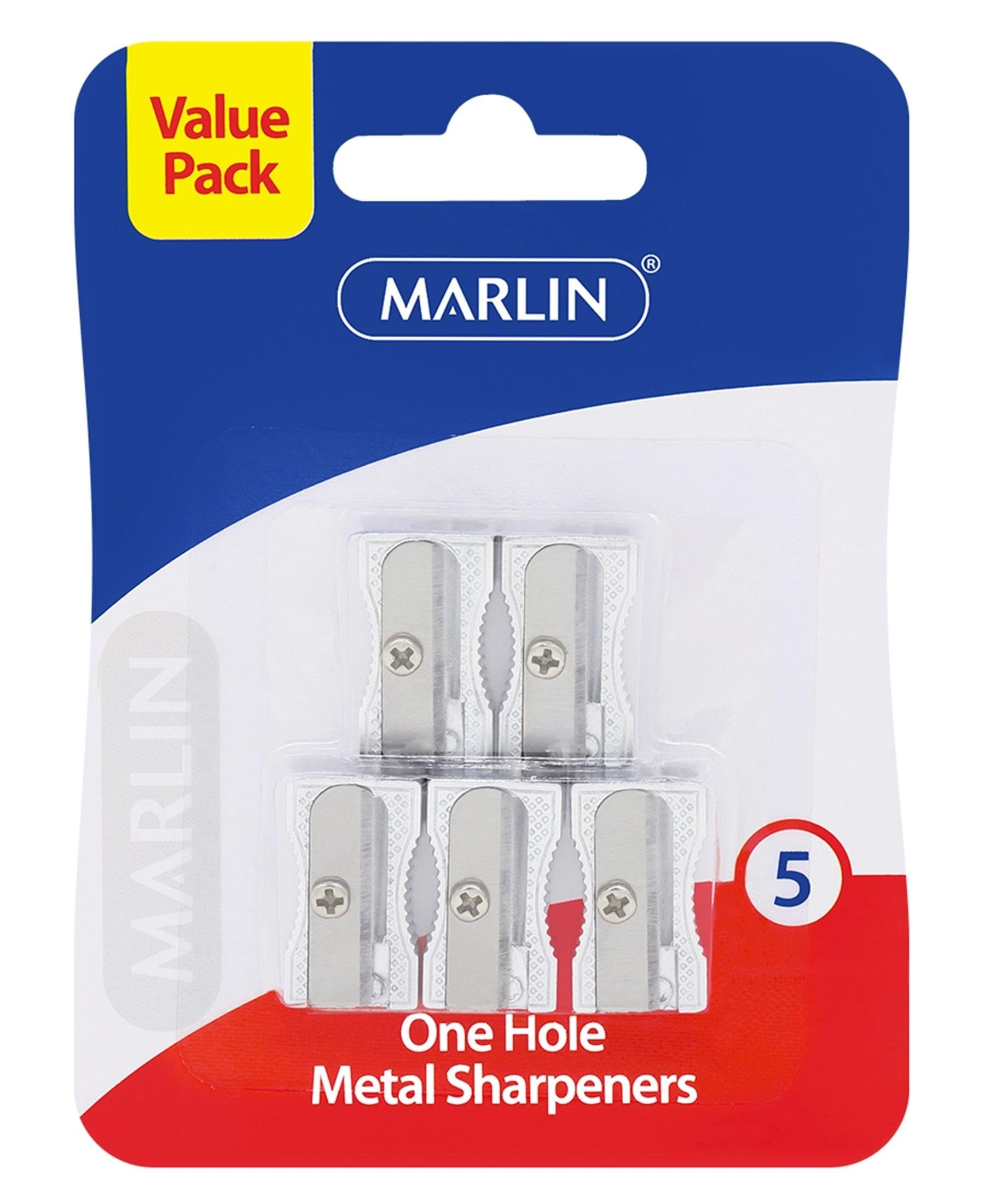 Marlin 5 Pack Metal Sharpeners - Silver