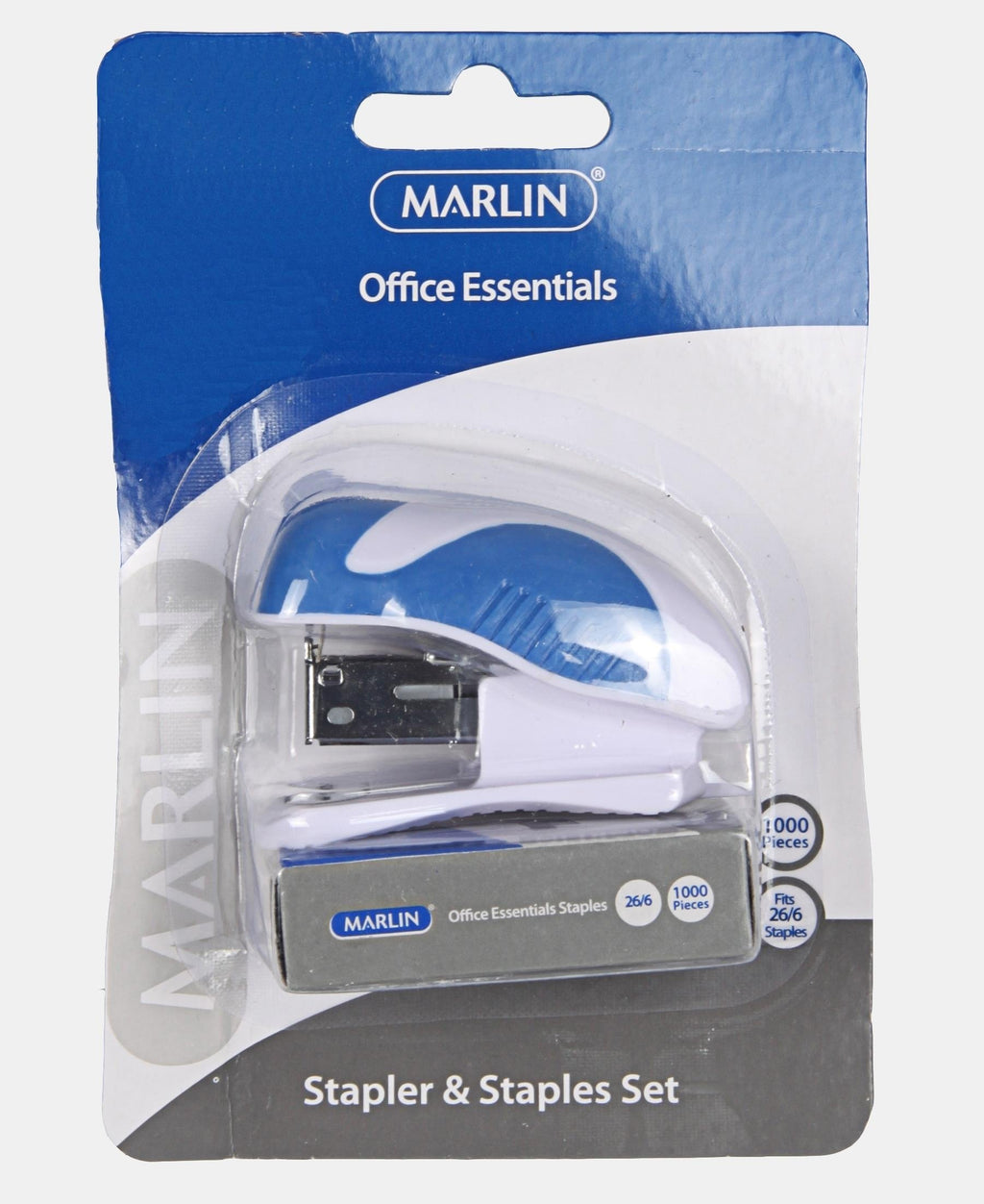 Marlin Mini Stapler And Staples Set - Blue