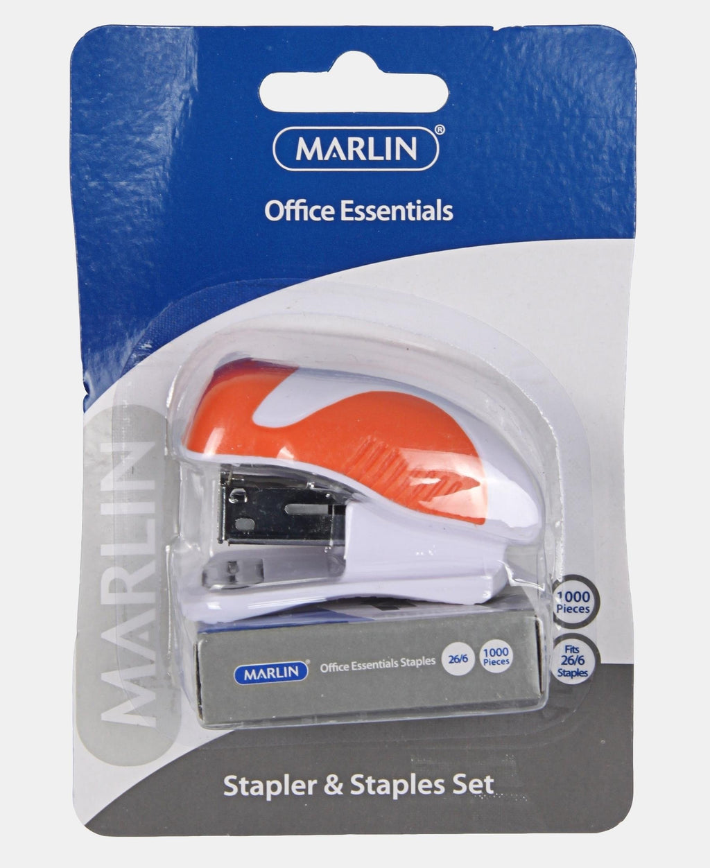 Marlin Mini Stapler And Staples Set - Orange