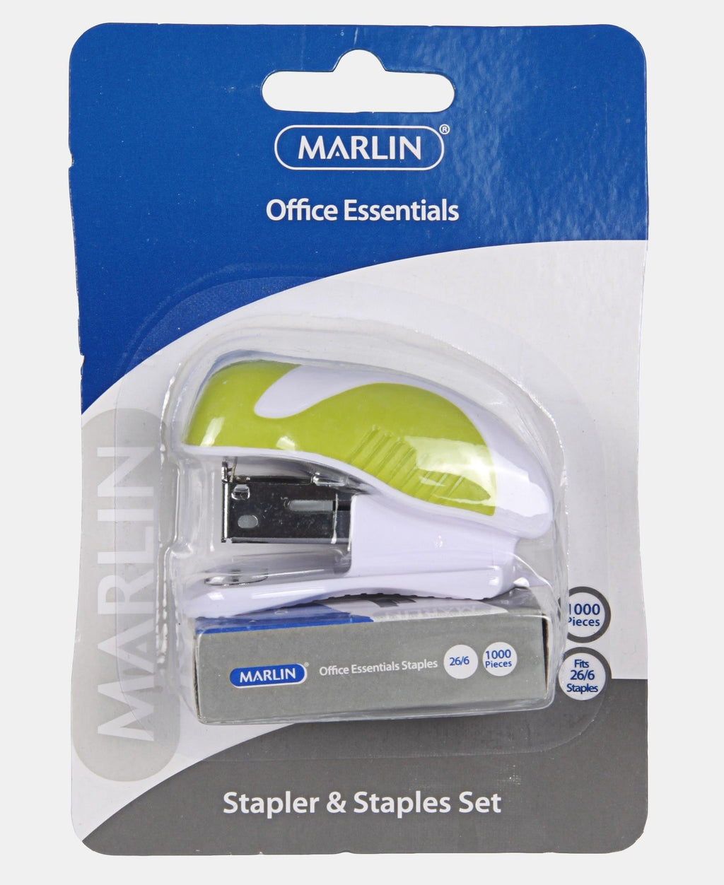 Marlin Mini Stapler And Staples Set - Light Green