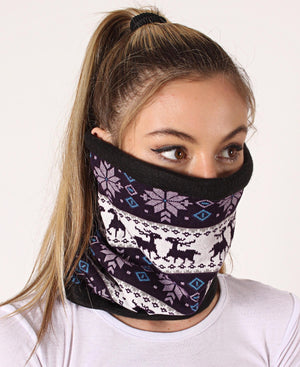 Knitted Snood - Purple